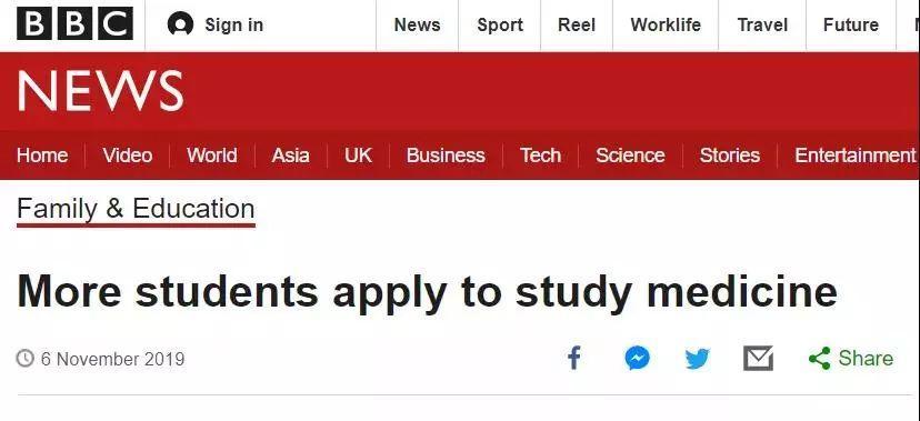 2020年UCAS英国第一轮申请数据公布!医学院最受欢迎?