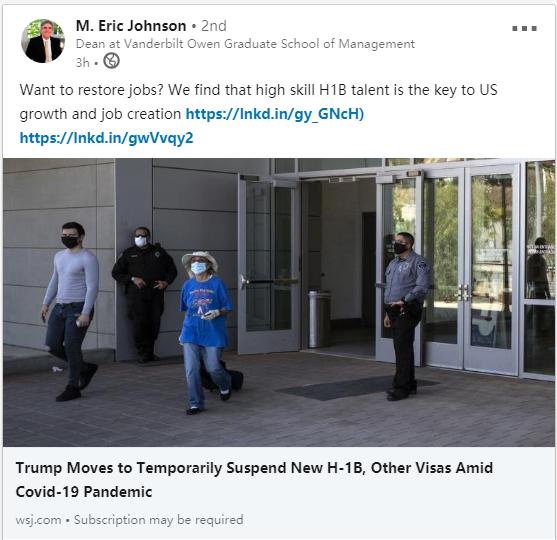 限制H-1B工签,哪些人会受到影响?留学生的美国梦呢?  疫情相关 第3张