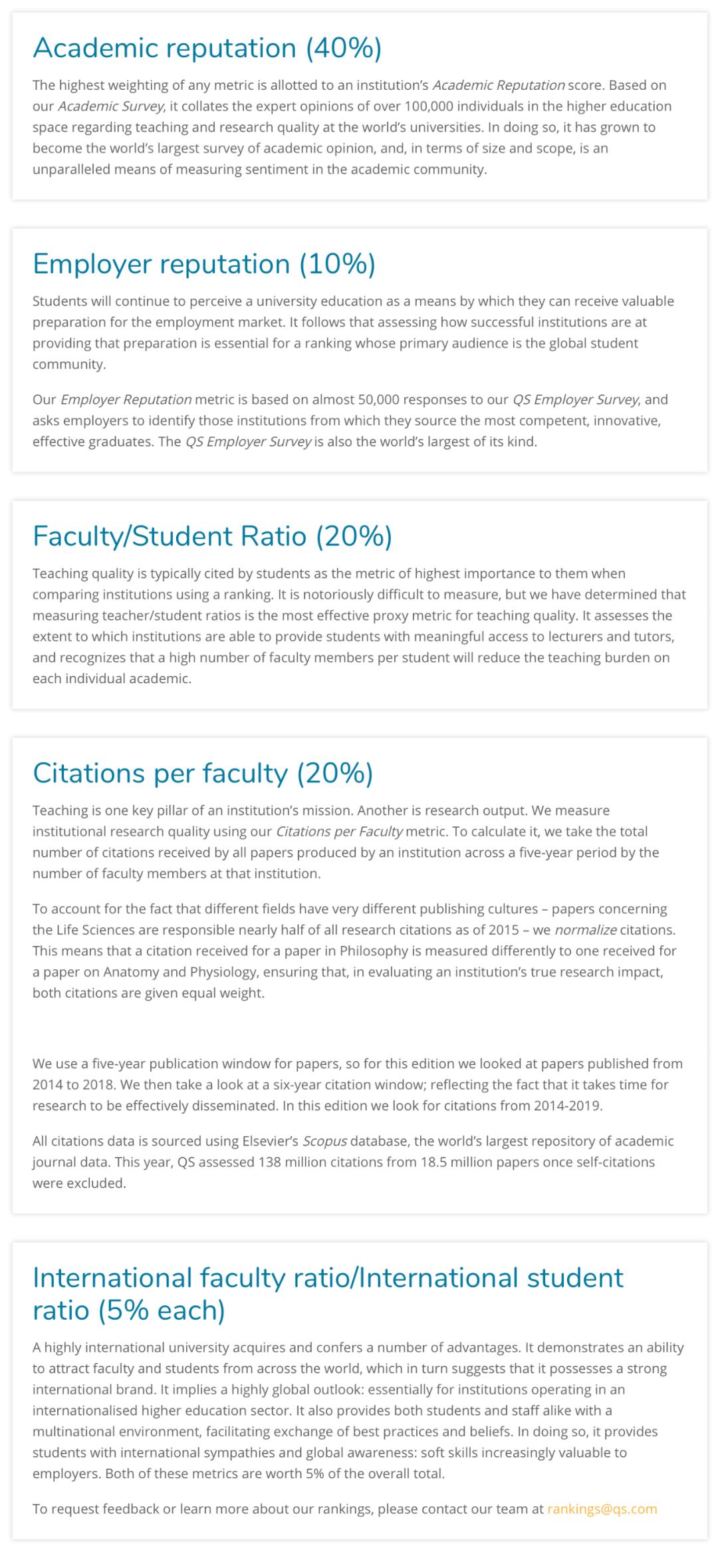 """QS发布2021世界大学排行榜!英国G5之一""""政经""""险守前50  数据 QS排名 排名 第3张"""