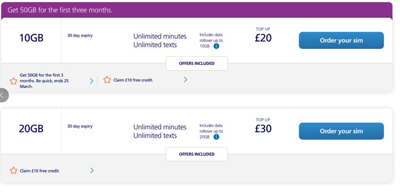 英国留学选择哪家的手机卡会比较合算呢?  英国留学 留学 第6张
