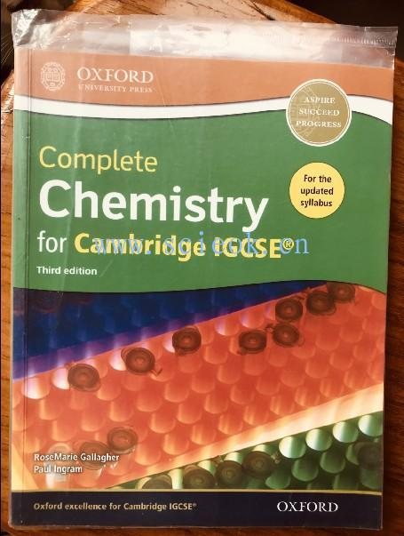 Complete Chemistry for Cambridge IGCSE Third edition (无光盘)