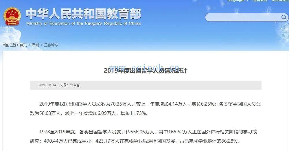 教育部: 近5年我国出国留学总人数已达251.8万人(附:2019出国留学人数)