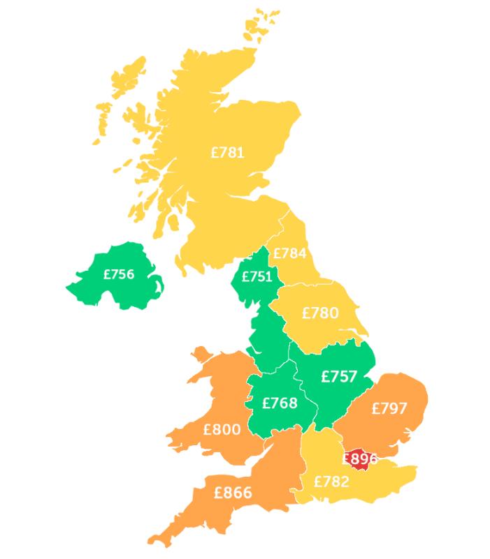 2021留英开销公布!租房费用占到月开销的48%(附性价比TOP10城市)  数据 英国留学 费用 第6张