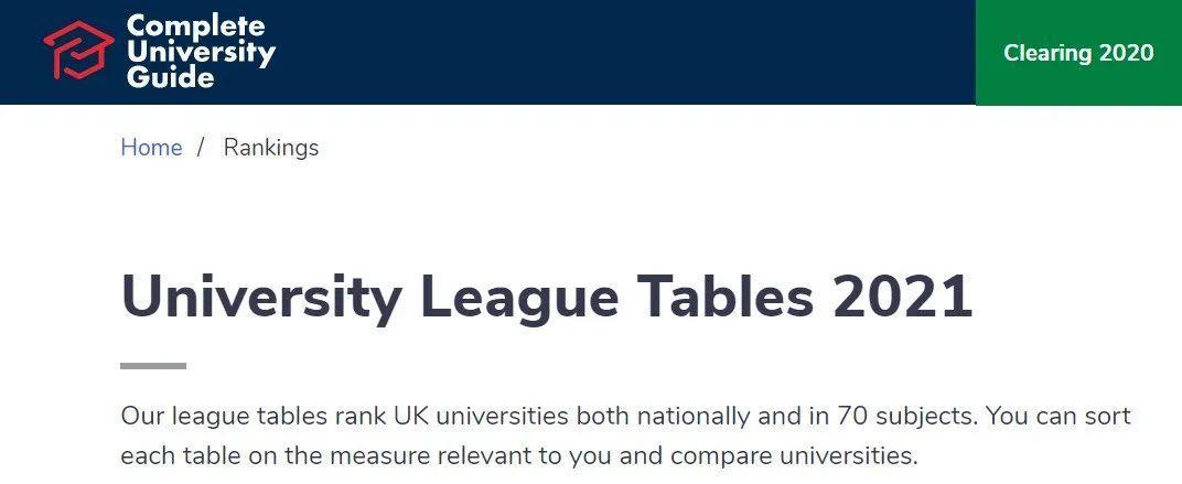 2021年英国最难申请的10所大学,平平无奇的Ta也上榜了?