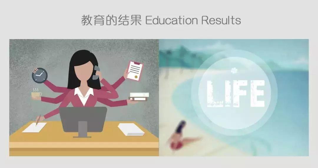 教育的沉思:通过25幅漫画教育理念的对比 你能悟到些什么吗?  国际化教育理念 第6张