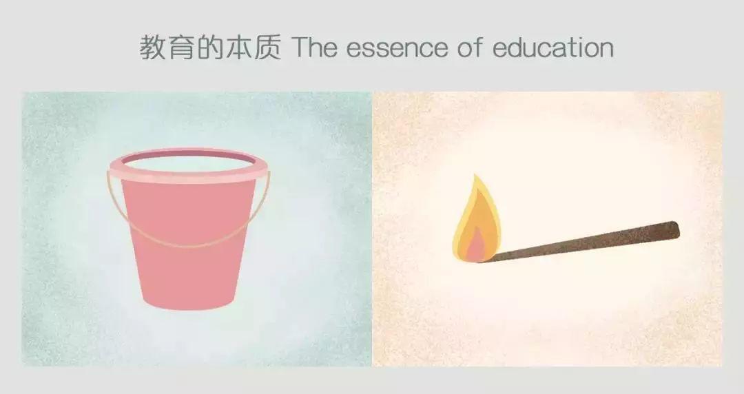 教育的沉思:通过25幅漫画教育理念的对比 你能悟到些什么吗?  国际化教育理念 第2张