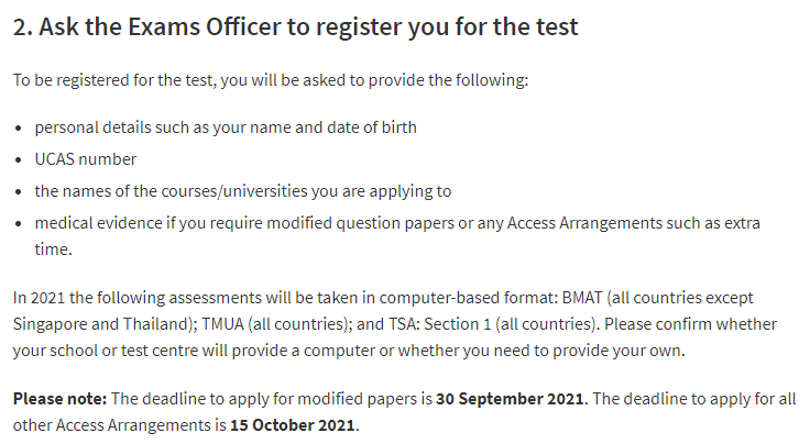 2021年英国本科要求BMAT、MAT、TSA、ENGAA成绩的一些注意事项  英国留学 第6张