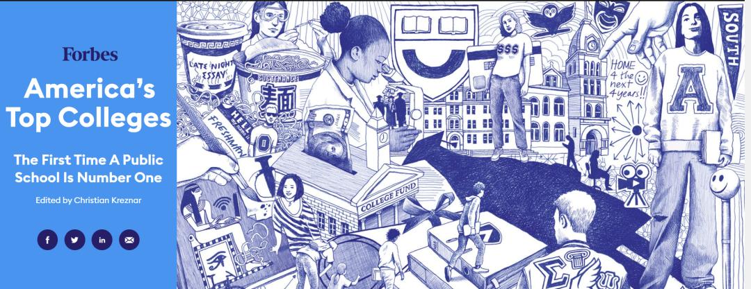 【数据】福布斯美国大学排名发布,公立大学强势崛起,耶鲁仅排第2